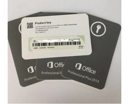Office 2019 Professional Plus,  card with license key