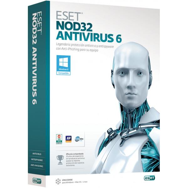Лицензия ESET NOD32 Антивирус 5 ПК 1 год ESET NOD32